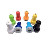 Wholesale Chinese Nipples - Mini Car Charger 2 ports Cigarette Port 2.1A Micro Auto Power Adapter Nipple Dual USB for Cell Phones