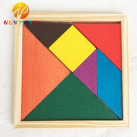 Wholesale Colorful Wooden Intellectual Toy - Colorful Tangram Children Mental Development Wooden Geometric Shape Jigsaw Puzzle Educational Toys for Kids intellectual Building Blocks