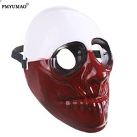 PMYUMAO Party Mask Halloween Clown Comédia Máscara de plástico PayDay 2 Wolf Ball Game Cosplay Mask