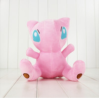 Wholesale Mew Poke - EMS Anime Cartoon Poke Mew Pikachu Plush Toy Soft Stuffed Doll toy for kids Christmas gift 30cm Free Shipping
