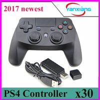Wholesale Shock Spot - 30 pcs New spot PS4 2.4G wireless Game Console ps4 handle compatible PS3   PC yx-ps-4
