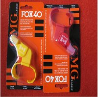 Wholesale Plastic Dolphin - Fox40 Whistle With Finger Grip Referee Sports Whistle Basketball Volleyball Tennis Dolphin Referee Apito in Plastic Packing