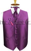 lenço ascot venda por atacado-venda quente frete grátis pequeno verificar terno colorido vermelho (colete + gravata ascot + abotoaduras + lenço)