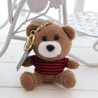 Wholesale T Shirt Key Chain - With a fragrance to wear T-shirt bear teddy bear plush key small pendant bag small ornaments car keys chain buckle