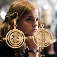 Harry Earrings Time Turner Brincos HP Jóias Relíquias da Morte Golden Chain Toy Gift Hot Selll Movie Jewelry Wholesale