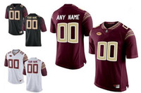 Wholesale Florida State Seminoles Jersey - Mens Florida State Seminoles Custom Stitched College Football Limited Jerseys 12 Deondre Francois Black Red White Personalized Jerseys S-3XL