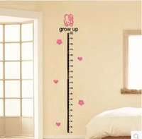 Wholesale Wall Measure - Acrylic measuring height sticker cartoon children room baby room porch sitting room bedroom 3 d solid crystal wall stickers