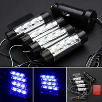 Wholesale Auto 4wd - 4 in 1 12V Car Auto Interior LED Atmosphere Lights Decoration Lamp 7 Color Car Styling for Sedan SUV 4WD Pickup