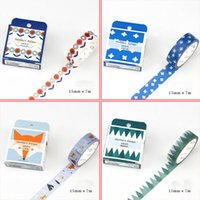Wholesale Scrapbooking Adhesive Tape - Wholesale- 2016 15mm*7m Nordic series flower fox Decorative Scotch Washi Tape DIY Scrapbooking Masking Tape School Office Adhesive Tapes 0