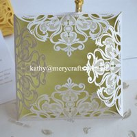 Wholesale Laser Cut Wedding Invitations China - Wholesale- 50pcs, rustic wedding invitation card factory white and gold laser cut wedding cards from China