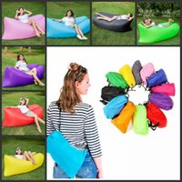 Wholesale 2017Fast Inflatable Sofa Sleeping Bag Outdoor Air Sleep Sofa Couch Portable Furniture Sleeping Hangout Lounger Inflate Air Bed cm
