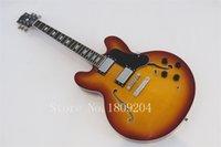 Wholesale G Guitars 335 - Wholesale-Free Shipping 2014 New model JAZZ guitar hollow light brown 335 G custom electric guitar