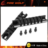 Wholesale Rails Shorts - FIRE WOLF 2pcs set DIY Standard 20mm Weaver Base Picatinny RIS Short Rail Right Left Curve Underside Lead Rail G36 G36C