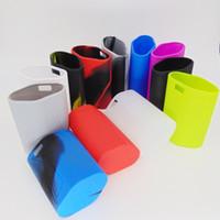 regenbogen-silikonhülle großhandel-GX350 Silikonhüllen Silikon Skin Tasche Gummi Hülle Schutzhüllen Haut Für Smok GX 350 Box Mod Vape 12 Regenbogenfarben Ecig