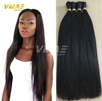 Wholesale Remy Bulk Hair Extensions - 100% Human Remy Hair Bulk Extension Top Quality Bulk Hair Straight 12 TO 26 Inch Natural Black 613 Blonde Unprocessed Brazilian Human Hair