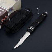Wholesale Cnc Ship - MT ultratech D2 CNC Blade 6061-T6Aluminum(CNC) Tanto Drop point satin Plain WL Tactical knife knives Free shipping QL