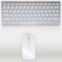 Wholesale Mouse For Apple - Ultra-Thin Wireless Keyboard Mouse Combo 2.4G Wireless Mouse for Apple Keyboard Style Mac Pc WindowsXP 7 8 10 Tv Box