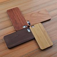 ingrosso cassa in legno naturale-Coperture rigide del telefono delle cellule di bambù di legno in bianco classico classico Coperture di legno su misura di lusso per Iphone Apple 6 6s più 7 più