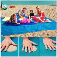 Wholesale New Hot Sand Free Mat Camping Mat Outdoor Foldable Picnic Mattress Beach Mat X200cm PVC Beach Carpets Cushion Outdoor Sports Accessaries