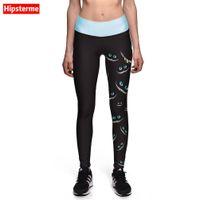 Wholesale Fitness God - Wholesale- HIPSTERME The eyes of the god of death 3D Printing Legging Fitness Women quick-dryi Leggings Pants Elastic Slim Jeggings