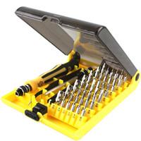 destornillador torx plus al por mayor-Precision 45 In 1 Electron Torx Mini juego de herramientas de destornilladores magnéticos Hardware Manual Kit de herramientas de reparación de apertura para iPhone 5 6 6S 7 Plus