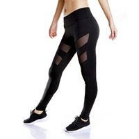 Wholesale Xxs Yoga Pants - XXS-L Summer Cool Women Mesh Fitness Sexy Yoga Sport Gym Gear Running Pants Leggings Outfits dropshipping ok