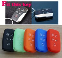 Wholesale range covers - Silicone Car key cover case set protector for Land Rover range rover freelander Evoque discovery keyrings keychain accessories