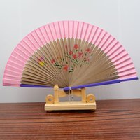 "Wholesale Types Wall Painting Styles - Lady Chinese Styles Paint Folding Cloth FabricFan For Dancing Home Office Wall DIY Decoration 8.26 ""(21cm) Assorted Colour"