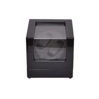 ingrosso orologi in legno neri-Watch Winder, LT Automatic Wooden Rotation 2 + 0 Guarda la scatola di visualizzazione della cassa di avvolgimento (nera)