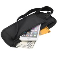 Wholesale- Male Casual Functional Fanny Pack Travel Pouch Zippered Waist Compact Sécurité Money Cintre Sacs à ceinture