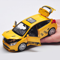 Wholesale Ford Focus St - Free Shipping 1:32 Scale Ford Focus ST SUV Sound & Light Diecast Pull back Toy Car Model Educational For Children's gift