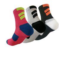 Wholesale Mens Towels - 2017 Brand Mens Professional Elite Crew Socks Compression Socks Quick Dry Thicken Male Middle Bottom Towel Socks For Men