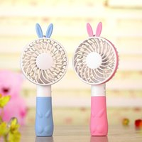 Wholesale Small Battery Usb - Summer handheld fan Lovely small Bear Style Portable Mini Fan Lithium Battery Rechargeable Portable USB Fan for Girls for Ladies for boy