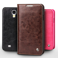Wholesale Case Slim Cover Galaxy S4 - Vintage leather flip case for Samsung Galaxy S4,card holder slim leather cover for galaxy S4