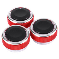 Wholesale Focus Air Conditioning - 3pcs Set Car AC Knob Aluminum Alloy Air Conditioning Heat Control Switch Accessories Suitable for Ford for Focus