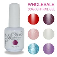 Wholesale Gel Nail Set Free - free shippig Soak off led & uv gel nail polish set nail gel lacquer varnish for nail art