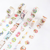 Wholesale M Kawaii Cute Flower Fruit Masking Paper Tape Washi Tape Japanese Decorative Adhesive Tape Diy Diary Scrapbooking