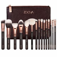 Wholesale Complete Cosmetic Set - 016 ZOEVA Rose Golden Complete Set Makeup Brushes 3 Styles with Leather Package Face&Eye Brushes Daily Cosmetics Brushes
