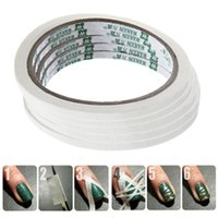 patterned french tips 2018 - Wholesale- 5Pcs Lot French Manicure Nail Tape Stickers Nail Art Tips Masking Tape Do Pattern Manicure Tools Nail Art Decoration 9.5 * 0.5cm