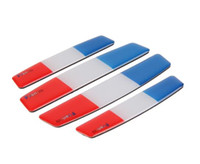 Wholesale car door anti collision - High Quality Car Styling France Flag Car Door Protective Sticker Crystal anti-collision bar door anti-scratch bar anti-collision Sticker