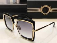 Wholesale 24k Gold Designer - NAR CISSUS Luxury Popular Sunglasses Titanium Designer 24K Gold Plated Retro Style Square Big Frame Coating Mirror Lens With Original Box