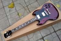 Wholesale Electric Guitar Sg Standard - Factory Custom Double Cut Way Angus Young Signature Dark Red Mahagany Body SG Standard Electric Guitar 2 Pickups
