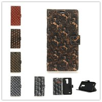 Wholesale Lg Mach - Metal Wind PU Leather Covers Cases For Fundas LG X Mach Phone bags Cases Coque Gold Skull Point Golden Silver Horse Skin