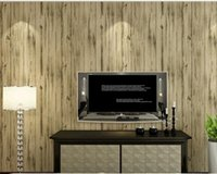 Wholesale American retro do old character of wood grain bar clothing store stripe non woven wallpaper wallpaper study