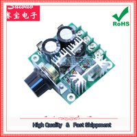 Wholesale Variable Speed Motors - Free Shipping 2pcs DC motor governor pump pwm continuously variable speed control switch 12V-40V 10A (C7A3)