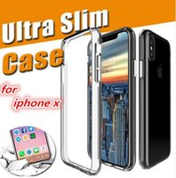 Wholesale Dhl Clear Iphone Case - For Iphone X 8 TPU Case Ultra-Thin Clear transparent Soft Gel Crystal Back Cover for iphone 6 6S 7 plus Samsung Galaxy S8 S7 edge note 8 DHL