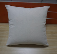 Wholesale Embroidery Cases - 12 oz natural canvas pillow case 18x18 plain raw cotton embroidery blank pillow cover