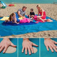 Wholesale Deck Pads - 150*200cm Sand Free Mat Double-deck Foldable Camping Outdoor Picnic Mattress Portable Summer Beach Cushion Mat Blanket Pad