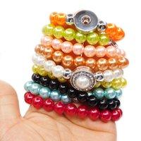 Wholesale Charm Bracelets For Women Religious - wholesale noosa chunks pearl design bead snap button bracelet for women DIY jewelry
