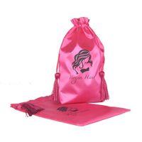 Wholesale Extensions Bags - 5pcs Virgin Hair Bag with Purl, Packaging Bag, Drawstring Bags, Hair Extension Garment Bag